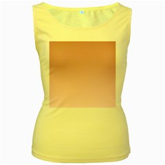 Puce To Pink Lace Gradient Womens  Tank Top (yellow)