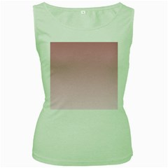 Puce To Pink Lace Gradient Womens  Tank Top (green)