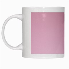 Puce To Pink Lace Gradient White Coffee Mug