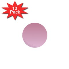 Puce To Pink Lace Gradient 1  Mini Button (10 Pack)