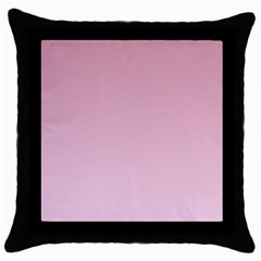 Puce To Pink Lace Gradient Black Throw Pillow Case