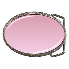 Puce To Pink Lace Gradient Belt Buckle (Oval)