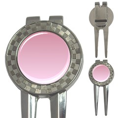 Puce To Pink Lace Gradient Golf Pitchfork & Ball Marker