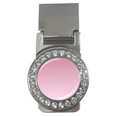 Puce To Pink Lace Gradient Money Clip (CZ)