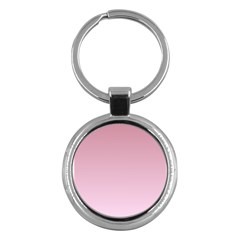 Puce To Pink Lace Gradient Key Chain (Round)