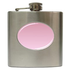 Puce To Pink Lace Gradient Hip Flask