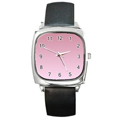 Puce To Pink Lace Gradient Square Leather Watch