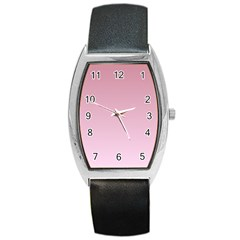 Puce To Pink Lace Gradient Tonneau Leather Watch