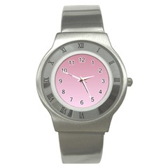 Puce To Pink Lace Gradient Stainless Steel Watch (Unisex)