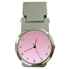 Puce To Pink Lace Gradient Money Clip With Watch