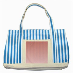 Puce To Pink Lace Gradient Blue Striped Tote Bag