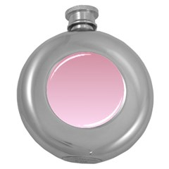 Puce To Pink Lace Gradient Hip Flask (round)