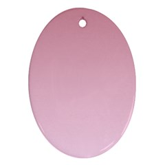 Puce To Pink Lace Gradient Oval Ornament (Two Sides)