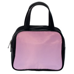 Puce To Pink Lace Gradient Classic Handbag (One Side)