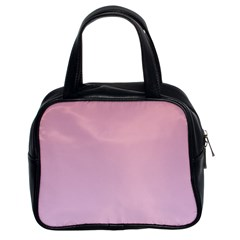 Puce To Pink Lace Gradient Classic Handbag (Two Sides)