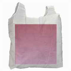 Puce To Pink Lace Gradient Recycle Bag (One Side)