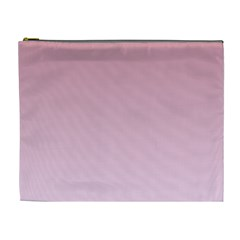 Puce To Pink Lace Gradient Cosmetic Bag (xl)