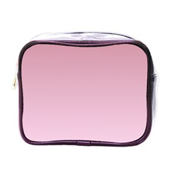 Puce To Pink Lace Gradient Mini Travel Toiletry Bag (one Side)