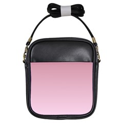 Puce To Pink Lace Gradient Girl s Sling Bag