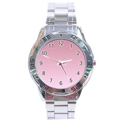 Puce To Pink Lace Gradient Stainless Steel Watch (Men s)