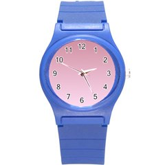 Puce To Pink Lace Gradient Plastic Sport Watch (small)