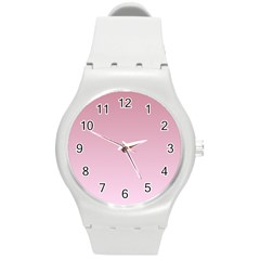 Puce To Pink Lace Gradient Plastic Sport Watch (Medium)