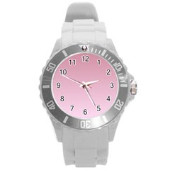 Puce To Pink Lace Gradient Plastic Sport Watch (Large)