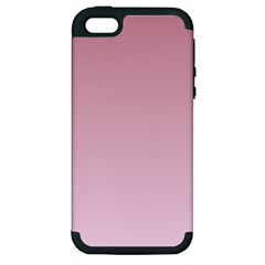 Puce To Pink Lace Gradient Apple Iphone 5 Hardshell Case (pc+silicone)