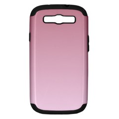 Puce To Pink Lace Gradient Samsung Galaxy S III Hardshell Case (PC+Silicone)