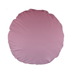 Puce To Pink Lace Gradient 15  Premium Round Cushion