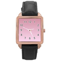 Puce To Pink Lace Gradient Rose Gold Leather Watch