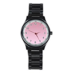 Puce To Pink Lace Gradient Sport Metal Watch (Black)