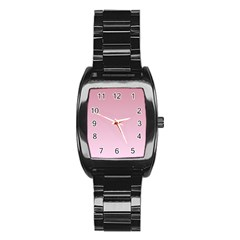 Puce To Pink Lace Gradient Men s Stainless Steel Barrel Analog Watch