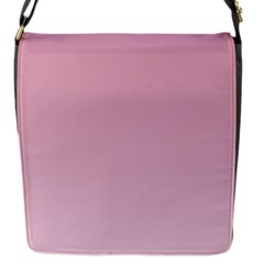 Puce To Pink Lace Gradient Flap closure messenger bag (Small)