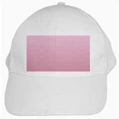 Pink Lace To Puce Gradient White Baseball Cap