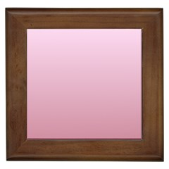 Pink Lace To Puce Gradient Framed Ceramic Tile