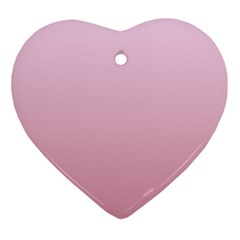 Pink Lace To Puce Gradient Heart Ornament