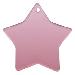 Pink Lace To Puce Gradient Star Ornament