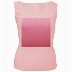 Pink Lace To Puce Gradient Womens  Tank Top (pink)