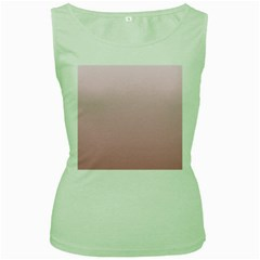 Pink Lace To Puce Gradient Womens  Tank Top (Green)