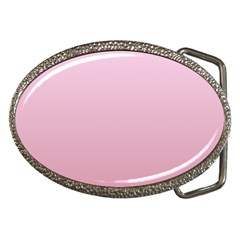 Pink Lace To Puce Gradient Belt Buckle (oval)