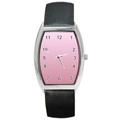 Pink Lace To Puce Gradient Tonneau Leather Watch
