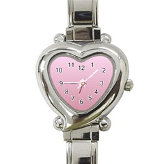 Pink Lace To Puce Gradient Heart Italian Charm Watch