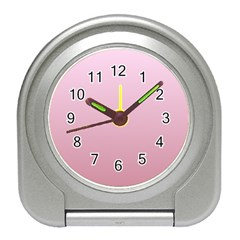Pink Lace To Puce Gradient Desk Alarm Clock