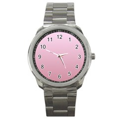 Pink Lace To Puce Gradient Sport Metal Watch