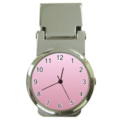 Pink Lace To Puce Gradient Money Clip with Watch
