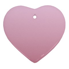 Pink Lace To Puce Gradient Heart Ornament (Two Sides)