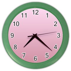 Pink Lace To Puce Gradient Wall Clock (color)
