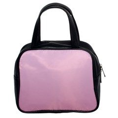 Pink Lace To Puce Gradient Classic Handbag (Two Sides)