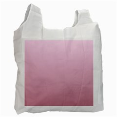 Pink Lace To Puce Gradient Recycle Bag (two Sides)